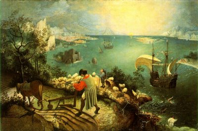 LANDSCAPE WITH THE FALL OF ICARUS, painting by Pieter Bruegel the Elder