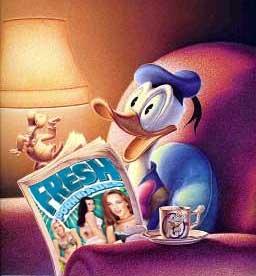 Donald duck orgasm