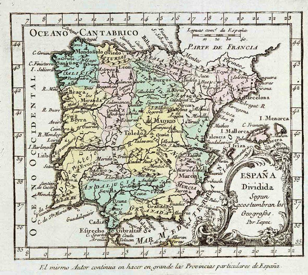 Mapas Antiguos De Espana Xxviii Corazon De Leon