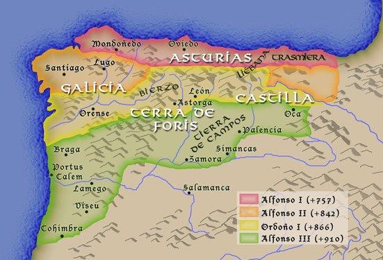 Mapa Reino De Asturias.Corazon De Leon Del Reino Astur Al Reino De Leon