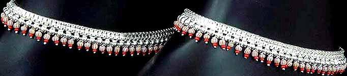 INDIA SAIJIKI       (WKD - INDIA): Anklets (payal, jhanjar)