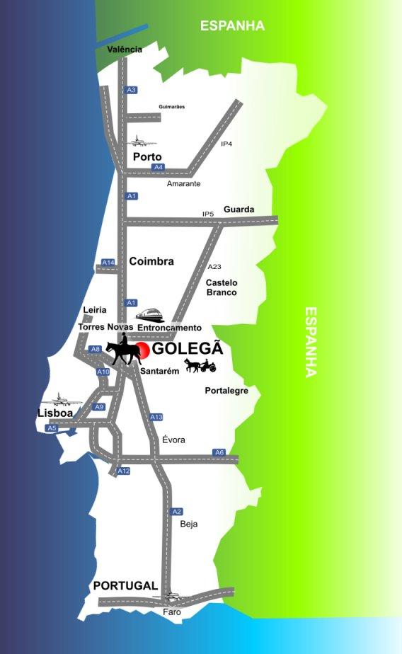 golegã mapa portugal Mapa De Portugal Golegã | thujamassages golegã mapa portugal
