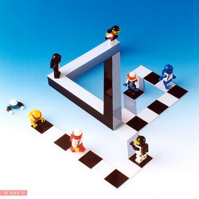 lego escher optical illusion image