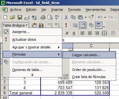 Tablas Dinámicas en Excel – Campos y Elementos calculados