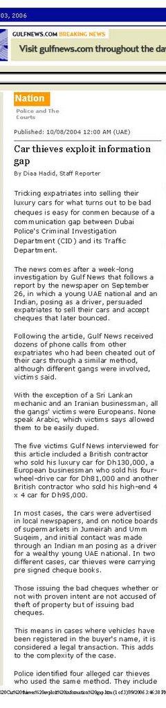 Dubai Law Connection: Gulf News Analysis