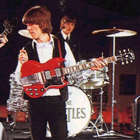 george harrison playing the gibson sg standard