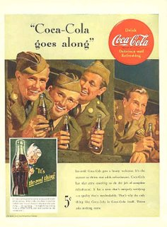 If you love your country and support the troops, you will drink Coke.