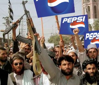 After a long day of shouting 'Death to America,' nothing satisfies quite like a Pepsi.