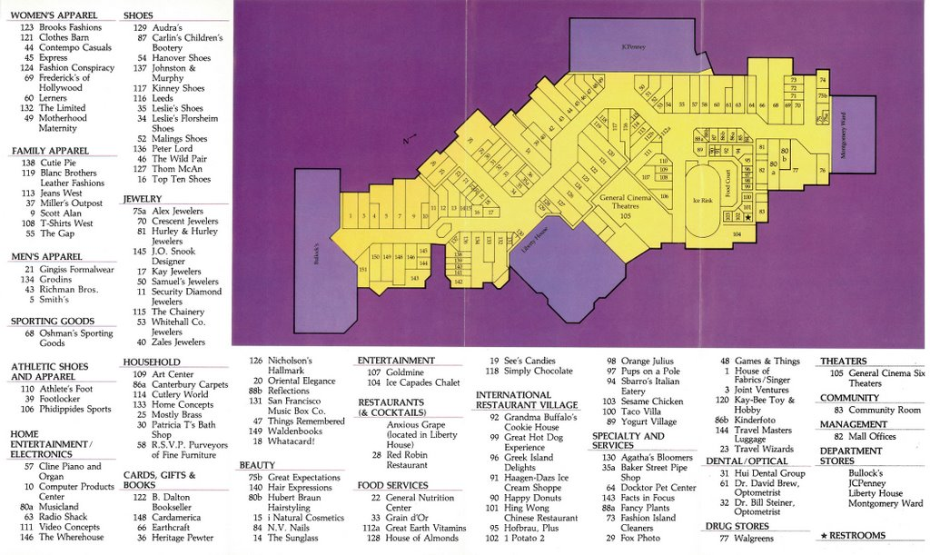 Fashion Valley Mall Stores Map