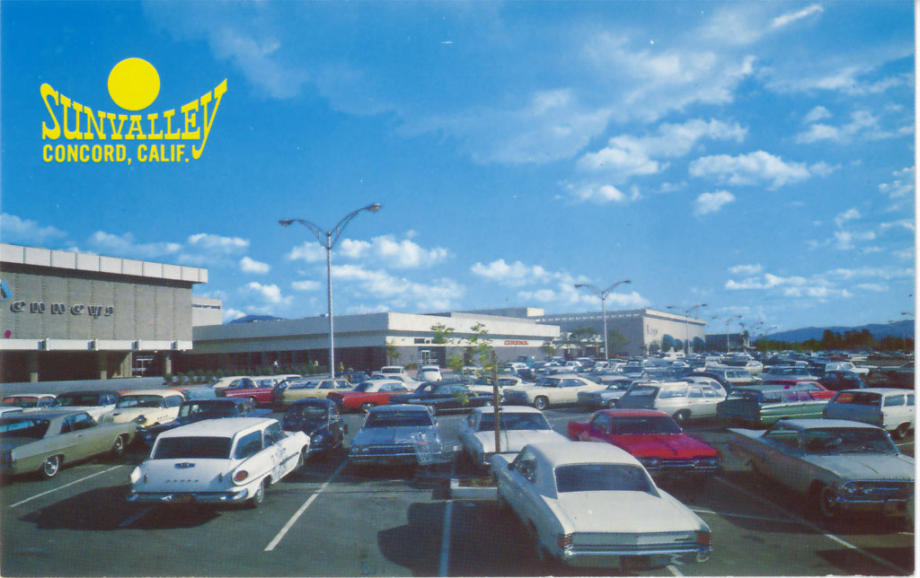 Vintage Postcards Sunvalley Mall In Concord Bigmallrat