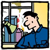 Ted Rall self portrait