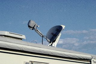 Steerable Satellite dish by Motosat