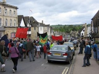 Photograph by Lisa Rullsenberg: Levellers Day march through Burford, May 2006