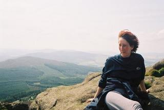Picture of Lisa Rullsenberg: windswept on Mither Tap, Scotland