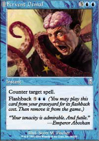 Magic the Gathering card: Fervent Denial
