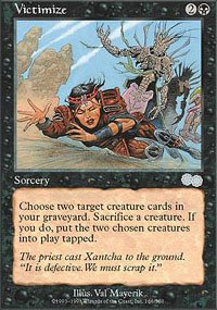 Magic the Gathering card: Victimize