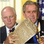 Bush Burns Constitution