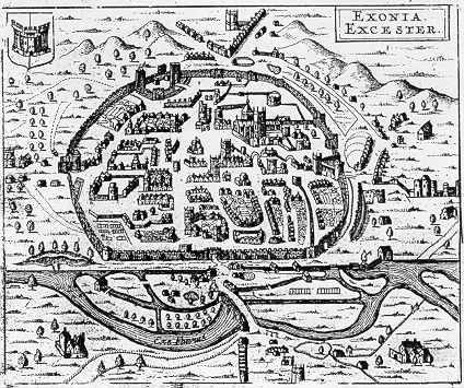 Hermannides map of Exeter,1661