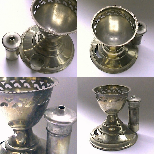 Egg Cups Antique Metal Egg Cups