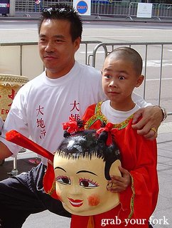 Chinese New Year parade Sydney 2006 boy smiling