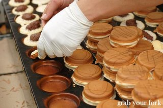 Dorayaki production