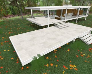 Virtual Mies: Farnsworth House in Second Life (via Content Confessional)