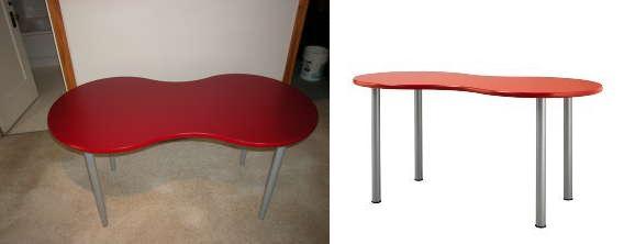 The V Spot For Sale Ikea Quot Peanut Quot Desk Red