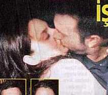 Tarkan and Bilge kissing