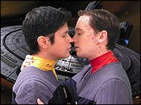 Hidden Frontier portrayed the first gay kiss in Star Trek history