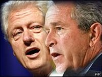 Clinton and Bush administrations in a tug of war of blame