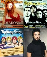 Rolling Stone Turkish edition, with three different covers and Tarkan.