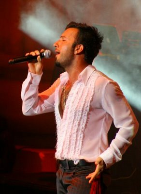 Tarkan on stage at the Harbiye, Istanbul