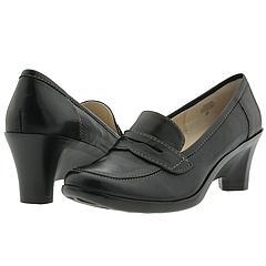 Black Heeled Loafer Shoes
