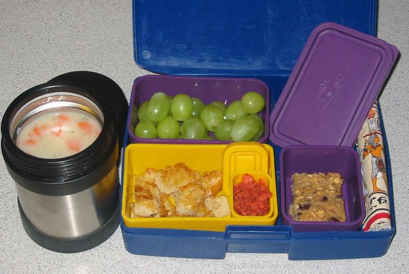 vegan lunch box potato soup. Black Bedroom Furniture Sets. Home Design Ideas
