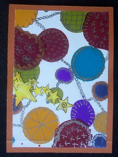 Mail art ATC sent from Renee Zappa to Troy Thomas