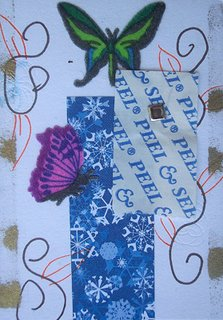 Mail Art ATC sent from Sylvia Sanchez to Troy Thomas