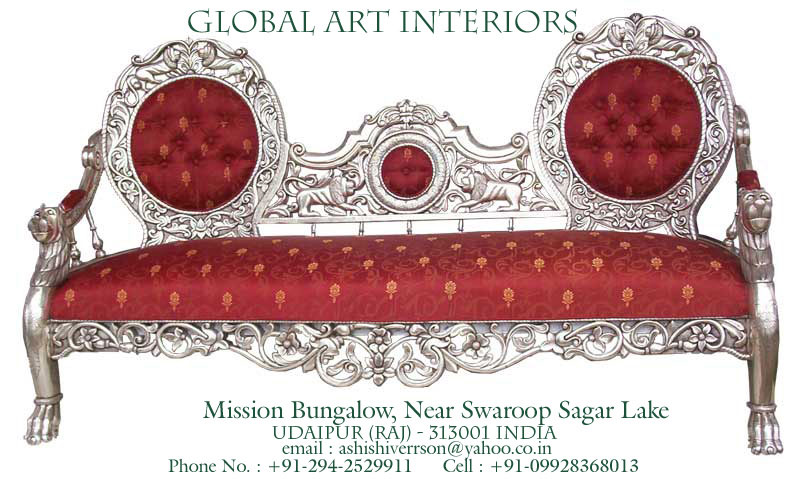 Antique Reproduction Silver Handicraft Furniture: Invitation to