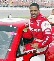 African American Race Car Driver Willy T