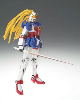 Nobel Gundam with beam saber, look at her 'hair'