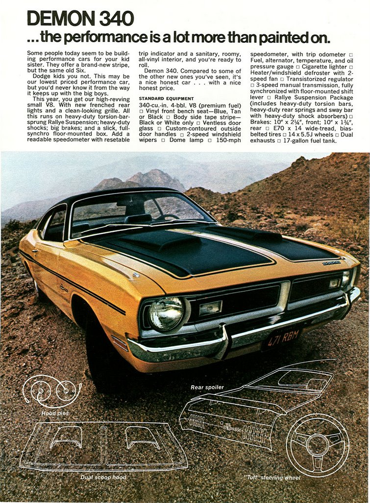 1971 Dodge Charger: Just A Car Guy: Dodge 1971 Magazine Insert