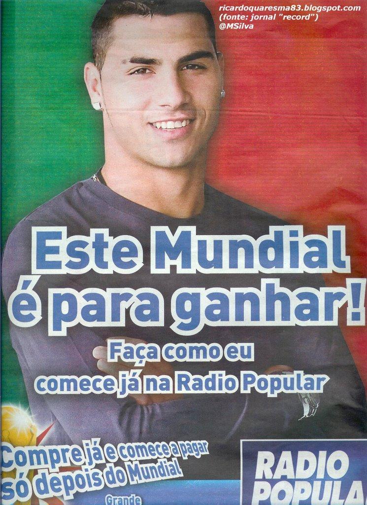 Ricardo Quaresma já vai fazendo alguma publicidade.O extremo português  apareceu este sábado no jornal
