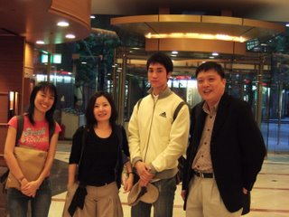 From left: Wenshan, her god-sister, her friend and Chee Yong