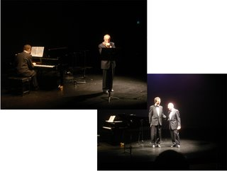 Mr Burder and Parolini on stage during concert