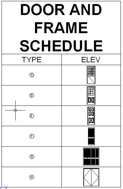 autocad door schedule template
