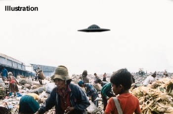 Flying Saucer Over Philippine Dump