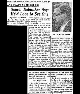 Saucer Debunker Says-The Detroit News Sunday 3-27-1966