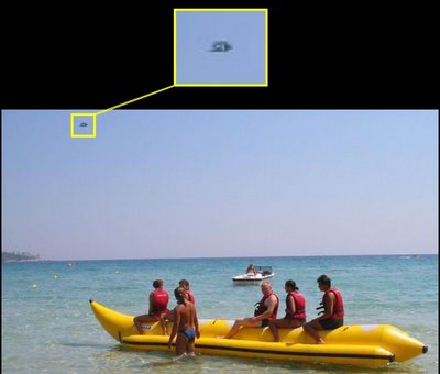 UFO Over MALLORCA With Inset