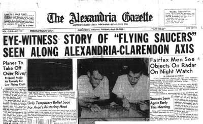 Eye Witness Account of 1952 'Flying Saucer' Flap