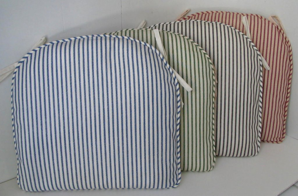 Ticking Stripe Chair Pads