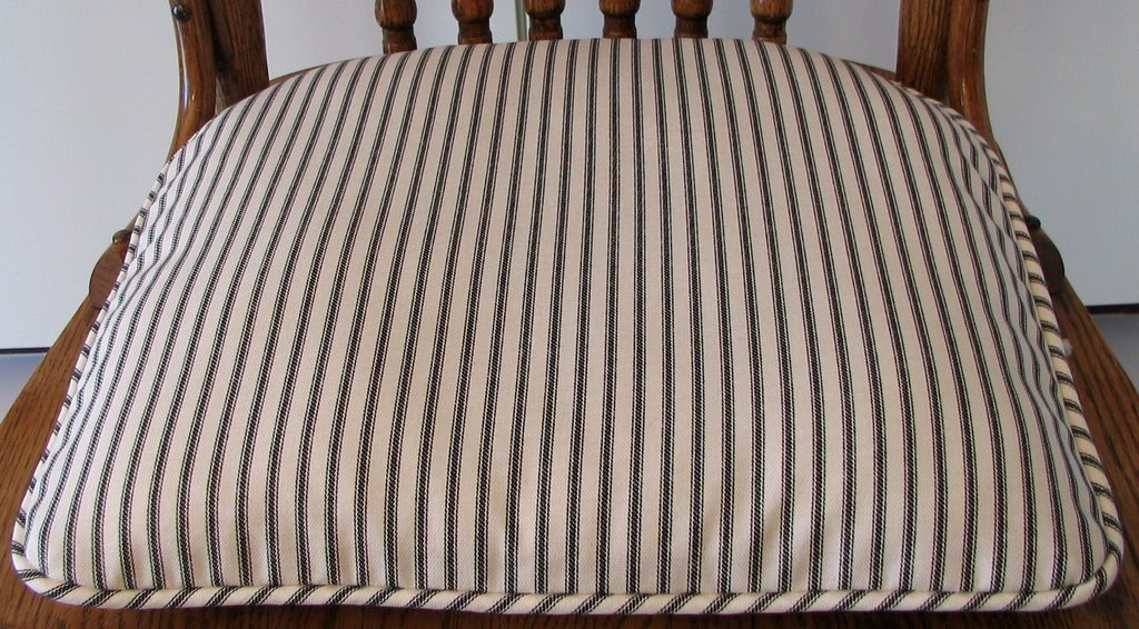 Ticking Stripe Chair Cushion Chair Pads Amp Cushions